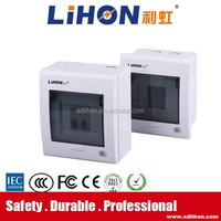 low voltage metal electrical distribution box with auto open button and circuit breaker