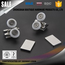 (BDC-SD003) Sliding swing curved glass enclosure roller round shower door parts glass shower door wheel