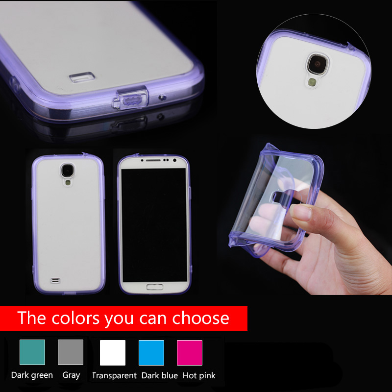 back pc hard cover for samsung s4, soft tpu bumper cover for Samsung S4 Case with cable and earphone plug function