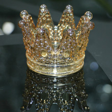 noble and beautiful imperial crown Crystal Candle Holder For Wedding or home Decoration