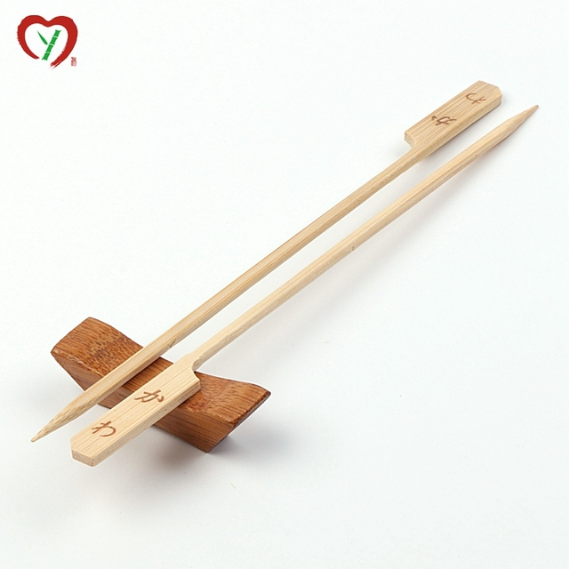 cheap price 40cm flat teppo bamboo skewer with custom logo