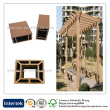 Environmental weather resistant plastic WPC garden pergola, balcony pergola