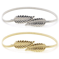 X62187A New Fashionable Women Metal Leaves