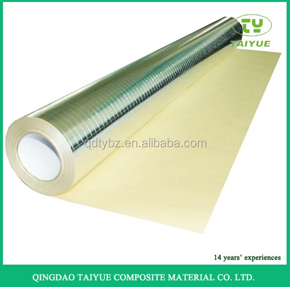 Aluminum Foil Fiberglass Three Way Insulation For Pipe