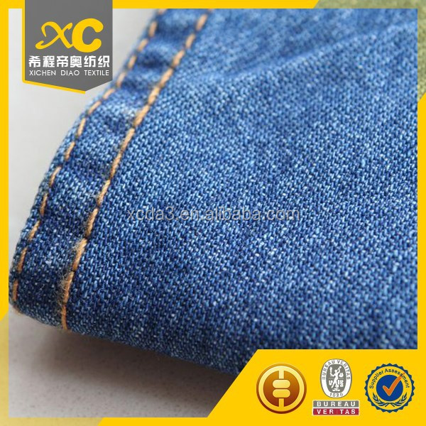 Turkish popular denim jeans fabric for dress