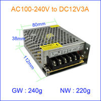 Modern&Adjustable 110V AC DC Power Supply, By best Manufacturer&Supplier