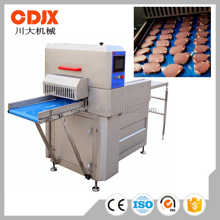 Commercial frozen lamb meat cutter