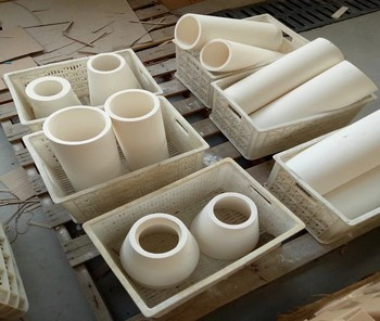 premium high alumina ceramic brushing tube conical pipes from direct factory