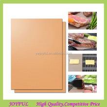 As Seen On TV Set of 2 BBQ Grill Mats Copper Bake Mats For Grilling Bake Pad