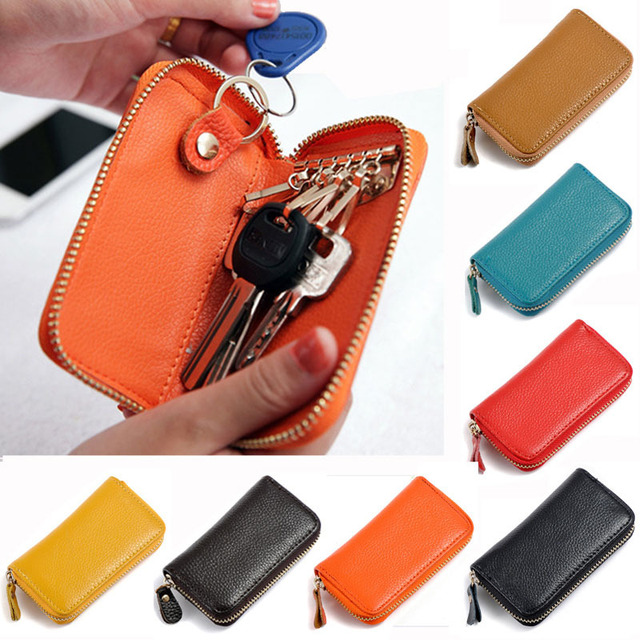 2016 Best Selling Men's Genuine Cow Leather Purse Car Key Wallets Fashion Women Housekeeper Holders Wholesale,ANS-CL-1003