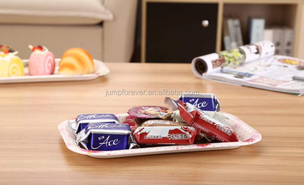 Hot and good design Eco-friendly plastic melamine Coffee Serving tray