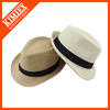 Custom Oversized High Quality Natural Straw Hat for Man with Print Ribbon
