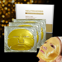 new products 2016 facial mask supplier neutriherbs whitening moisturizing 24K gold collagen facial mask for skin care