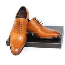 Breathable handmade Man leather dress shoes