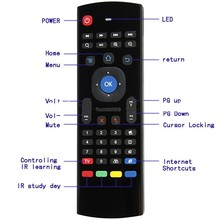 1 Chip universal MX3 controle remoto bluetooth 2.4g para android tv box