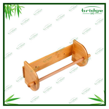 Hanging bamboo waterproof toilet paper holder
