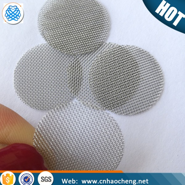 Small round smoking pipe filter wire mesh screen