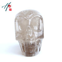 100% Big head China quartz crystal skull as gift