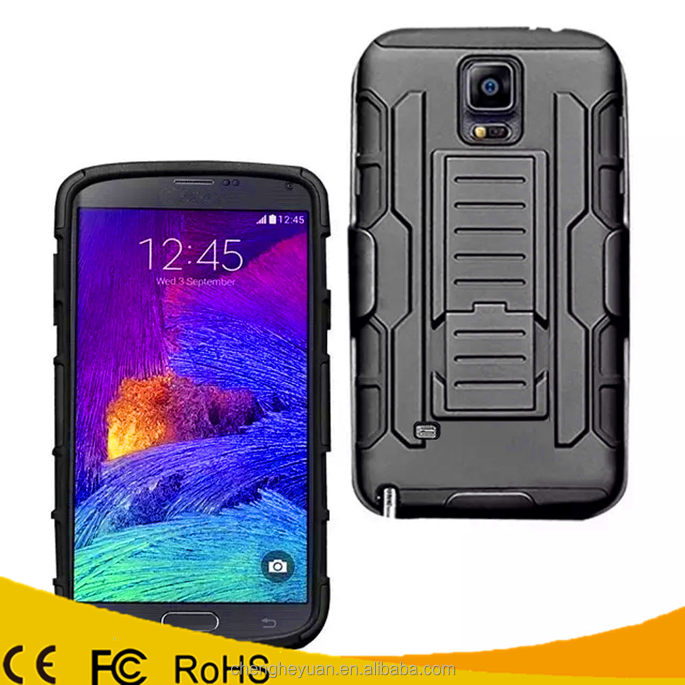 Best Selling Products Hybrid Holster Belt Clip Rugged Hard Case For Samsung Galaxy note 4
