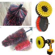 electric rotating cleaning brush for washing bathroom carpets car wheel tire clean drill brushes set