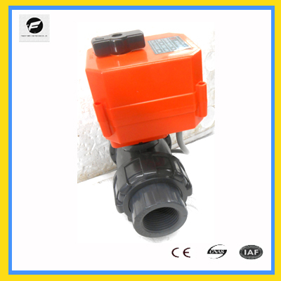 "CTF-001 1.0MPA DC12V 24v PVC 2"" dn50 electric motorized ball valve with actuator"