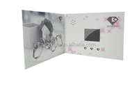 4.3inch tft lcd screen video brochure/video business card brand /video invitation card