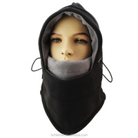 Hot Sale Winter Thermal Fleece Balaclava Ski Windproof Winter Designer Black Ski Mask Hat