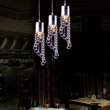 Vintage Industrial Pendant Light Crystal Decorative Purple Crystal Hanging Pendant Lamp