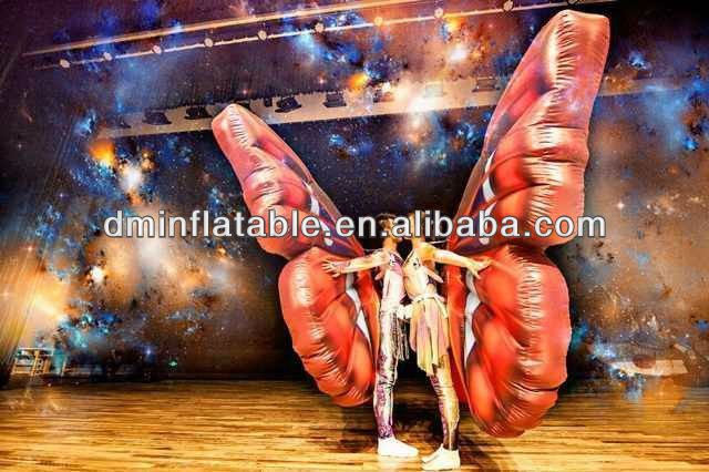 2015 New brand stage performance inflatable butterfly costumes/inflatable wings yp-207