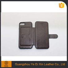 Wholesale Guangzhou factory detachable wallet flip leather phone case for iphone 7