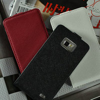2013 New cell phone elegant design high quality flip geniue cross pattern leather case for samsung galaxy s2 i9100