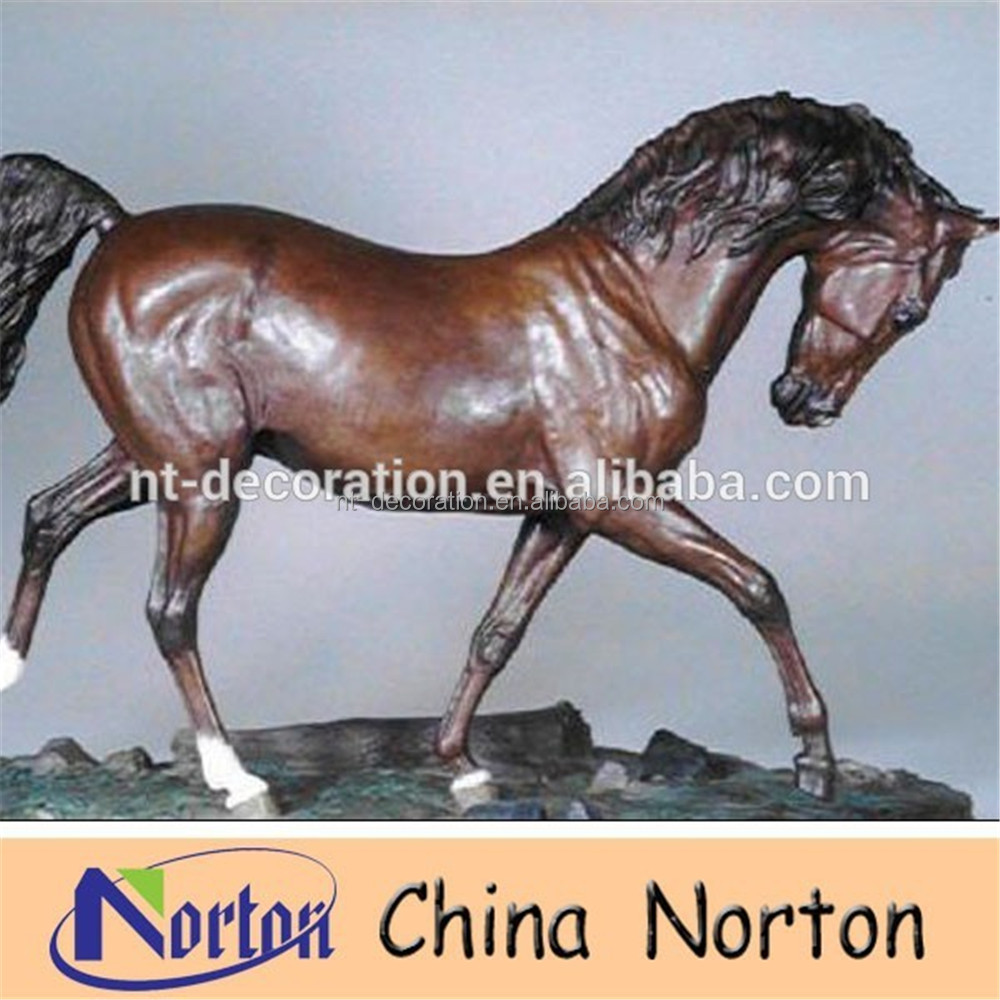 beautiful life size casting bronze garden horse statue for sale NTBH-HR214R