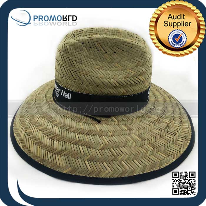 Wholesale Stripes Clear Summer Wide Brim Farmers Paper Straw Hats