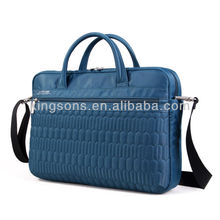 Lady briefcase stripe leather bag for 15.6 inch laptop