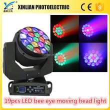19pcs bee eye led moving head stage lighting (zoom)