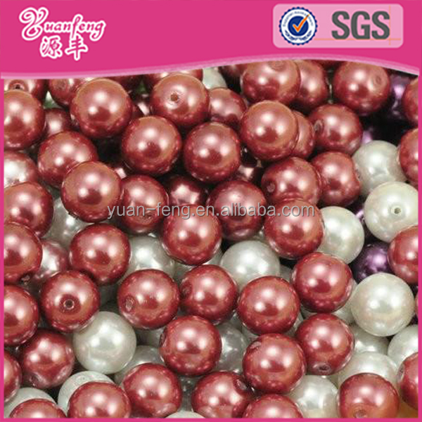Hot Sale Imitation ABS Pearls Strands Wholesale Grey Pearl Loose Beads For Bead Landing Charms Necklace