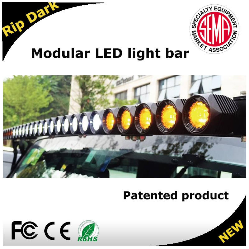 Cheap farm tractor for sale 4x4 LED light bar for off road, led power bar with amber LED light bar