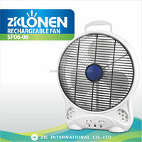 LONEN cooling 220V solar input charge AC/DC plastic table rechargeable battery fan