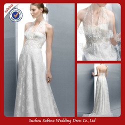 Be0133 Halter Neck Wedding Dresses sleeveless with lace latest designs Wedding Dress