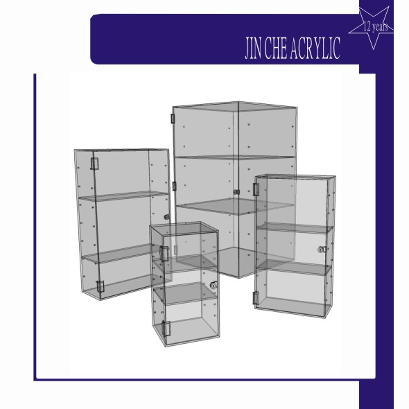 Transparent Acrylic Display Case, Countertop Display Case