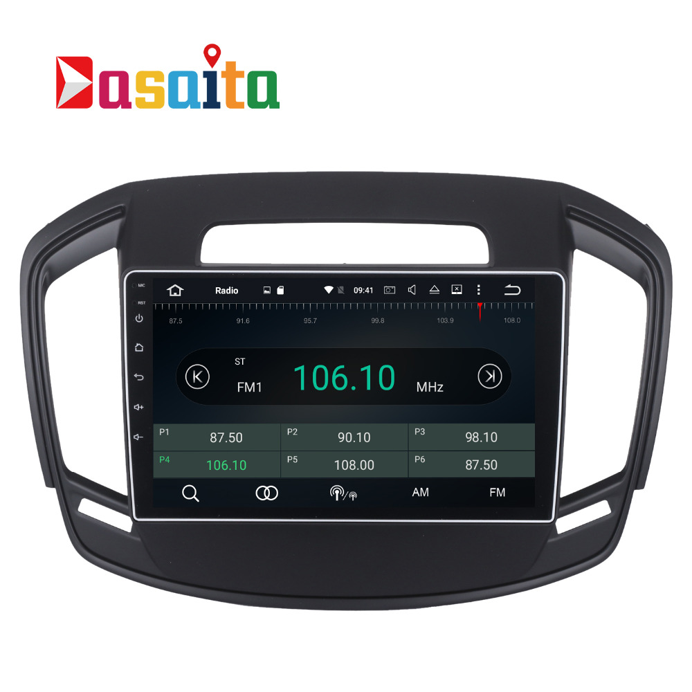 Dasaita 10.2'' Car GPS for Opel Insignia 2014 with Android 6.0 octa core 2G RAM auto multimedia Stereo SAT nav Wifi