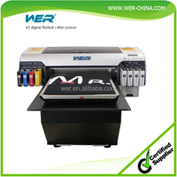 top-selling model A2 WER-D4880T 8 color 5760 * 2880 dpi FREE RIP software provided a2 size digital t shirt printer