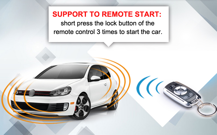 Car Engine start stop button CF7000ER with two RFID remotes