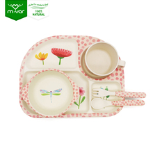 China bamboo fiber dinner sets for kids