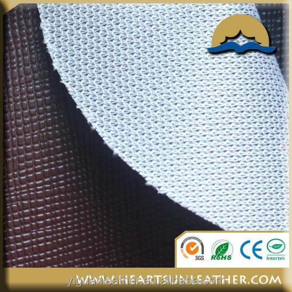 PVC coated raw leather for sale, car seat cover synthetic leather material