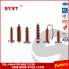 Distribution polymeric type high voltage lightning arrestor metal-oxide surge arrestor