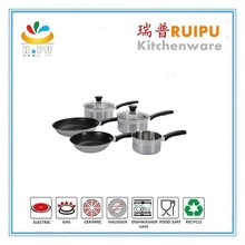 Kitchen utensils set 2016 Surgical 18 10 stainless steel cookware set 17pcs cooking pot popular in Europe with pasta cooker pot