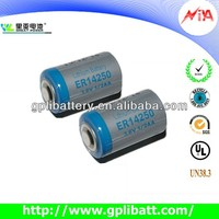 er14250 1/2aa size backup battery for gps tracker