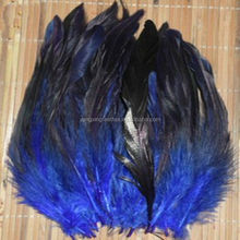 dyed blue rooster feathers for hair extensions cheap