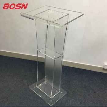 Acrylic Plexiglass School Church Podium Lectern